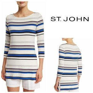 😍 ST. JOHN COLLECTION Striped Glitter Top